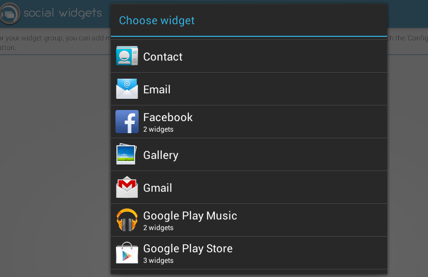 access widgets from any screen d