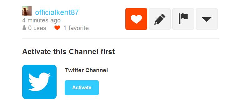 activate IFTTT Twitter channel