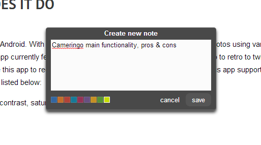 add notes to vertical scroll bar b