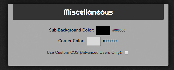 apply custom CSS scrollbar styling Chrome