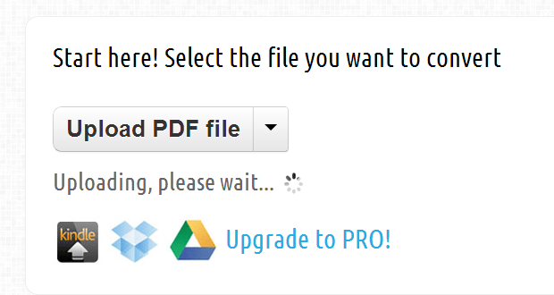 convert PDF to MOBI file for Kindle