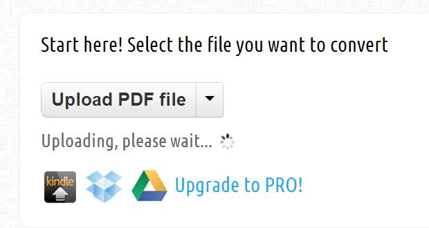 convert PDF to MOBI file for Kindle