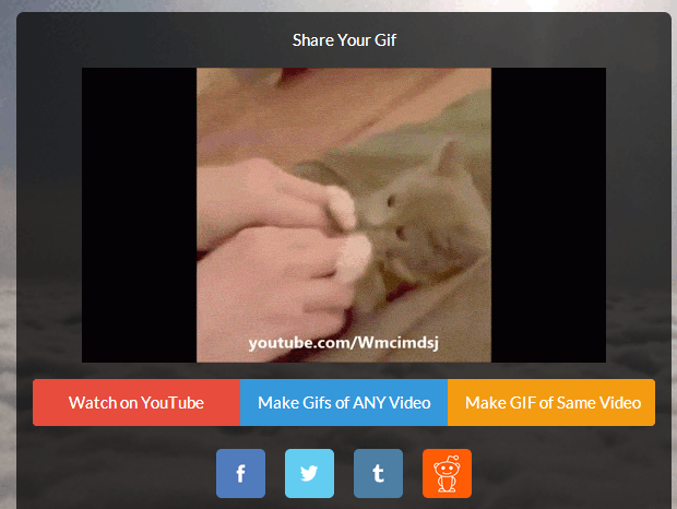 create GIFs from YouTube c