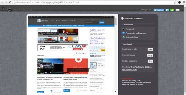 google chrome shot3
