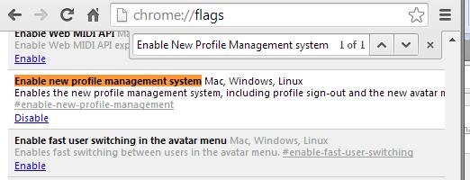 remove switch user menu chrome