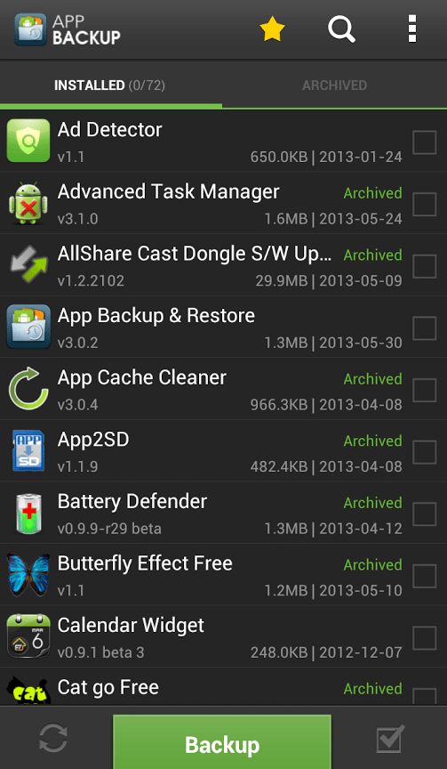 revert apps to older Android versions