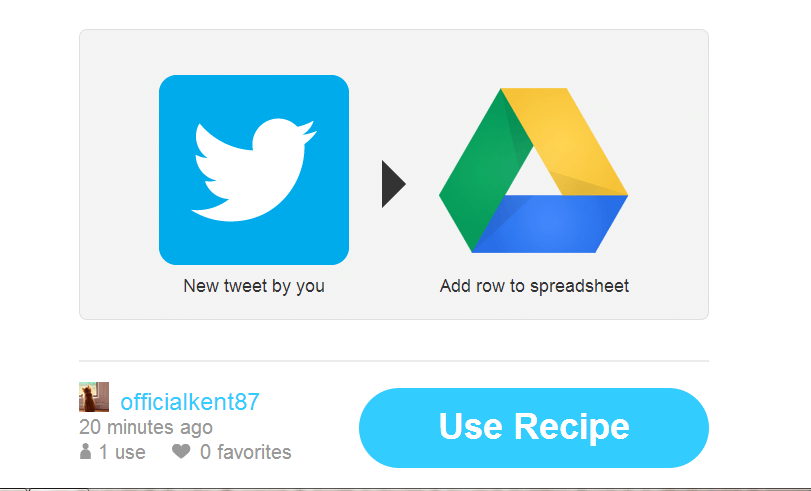 save new tweets to Google Drive