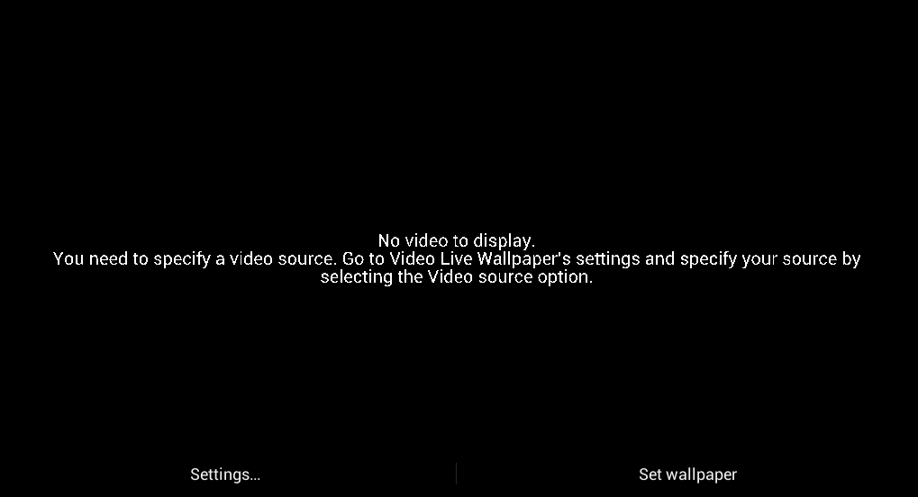 set video as live wallpaper