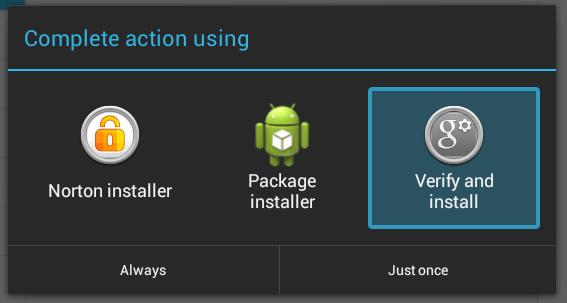 verify and install