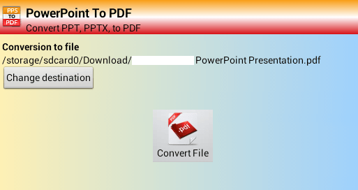 How to convert PowerPoint to PDF in Android [Tip] | dotTech