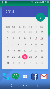 Month Calendar Widget for Android