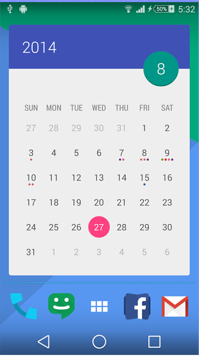 Android Calendar.Android Get Over 70 Beautiful Calendar Widget Themes With Month