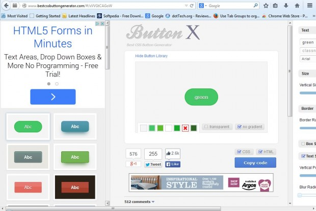 how to put buttons on css