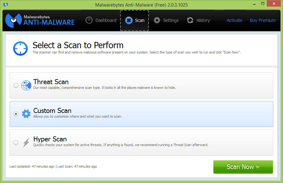 is malwarebytes free to use