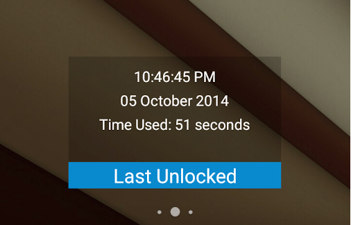 Check unlock history Android c