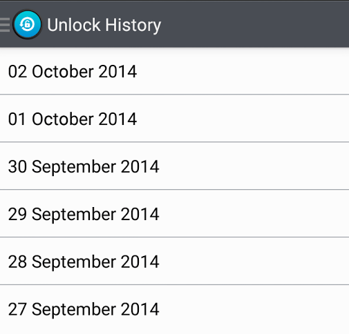 Check unlock history Android