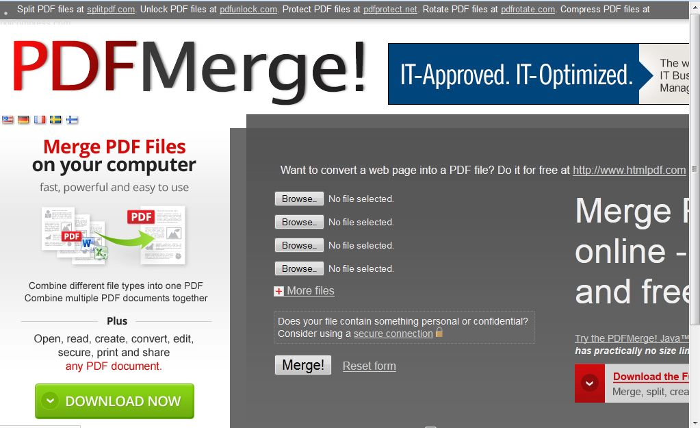 how to combine pdf files free windows 10