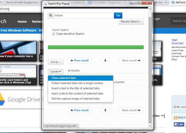 Search all tabs Chrome b