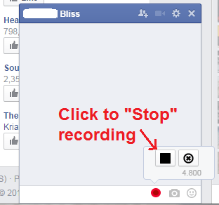 Send Voice Message on Facebook Chrome c