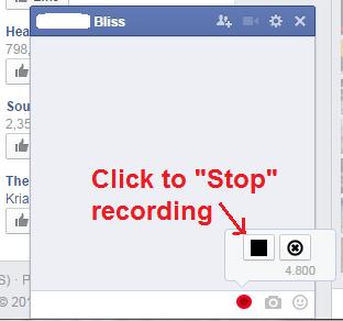 Send Voice Message on Facebook Chrome c