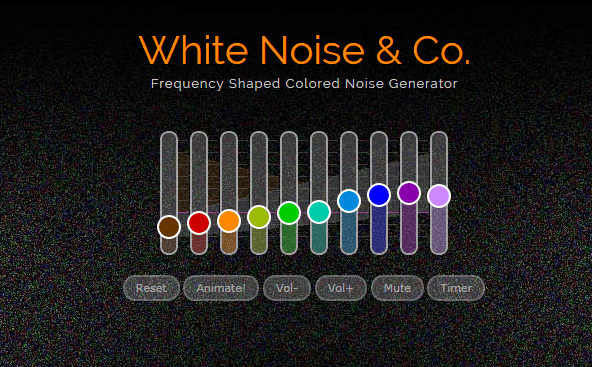 White noise online generator