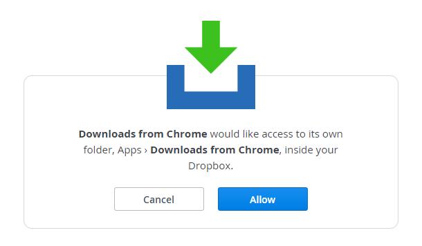 automatically save downloads to dropbox b