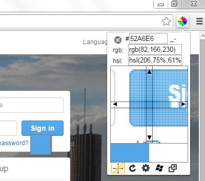 color picker for web pages Chrome c