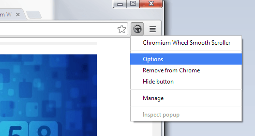 enable smooth scrolling in Chrome