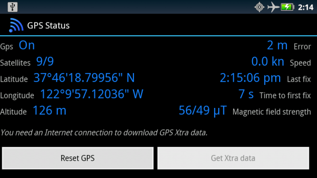 fix GPS Android b