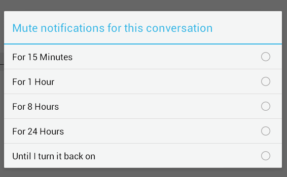 mute notifications facebook chat