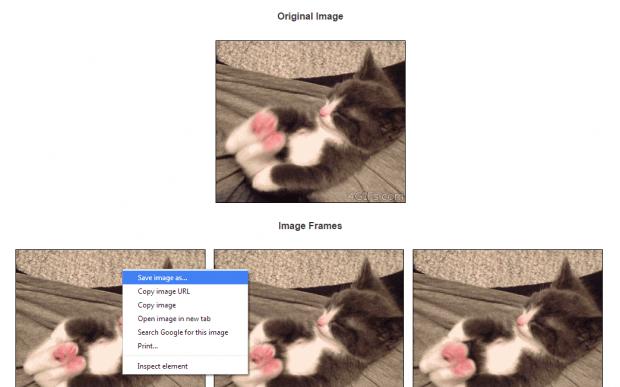 split a GIF image into frames online d