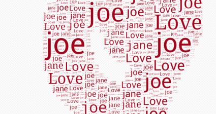 text art using custom text Android e