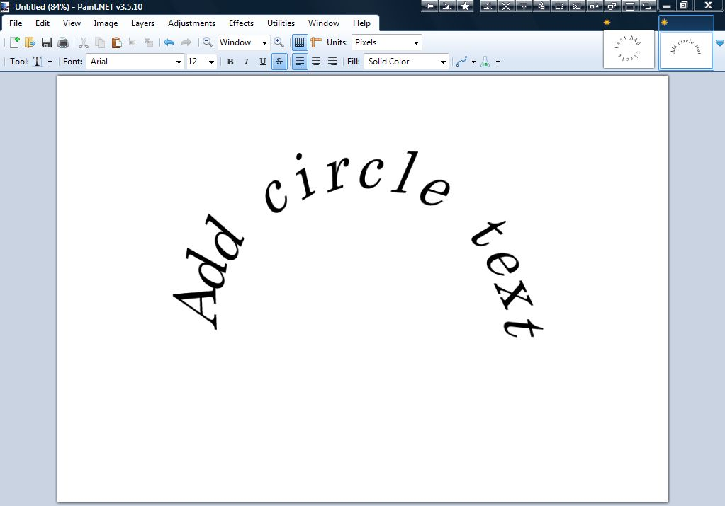 Circle Text Plugin For Paint Net