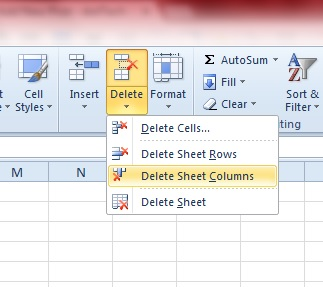 Excel 2010 remove empty cells in a column how do i hide for Emacs org table delete column