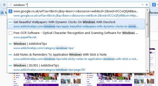 Firefox search tool2
