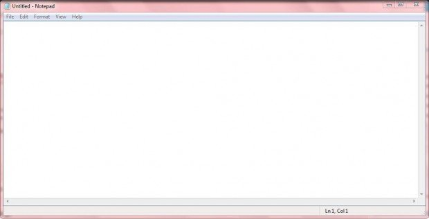 how to open notepad in windows 7