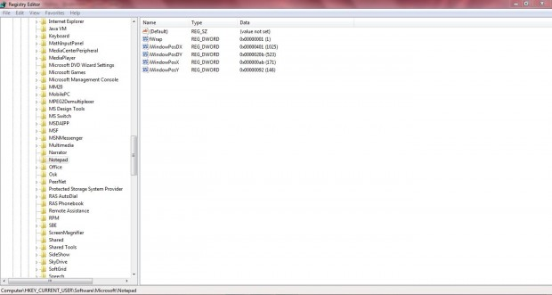 Notepad statusbar4
