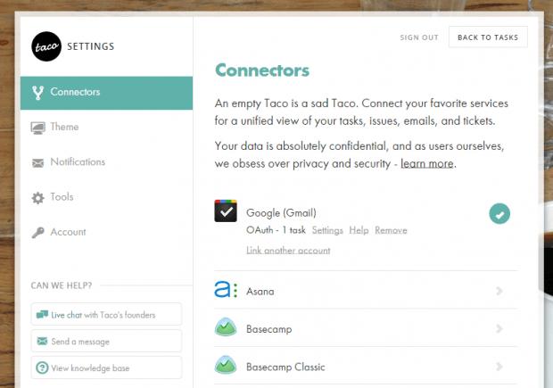 Organize tasks in New tab Chrome c