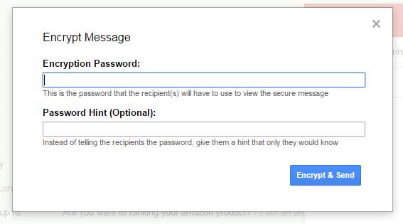 SecureGmail Encrypt Gmail Messages b