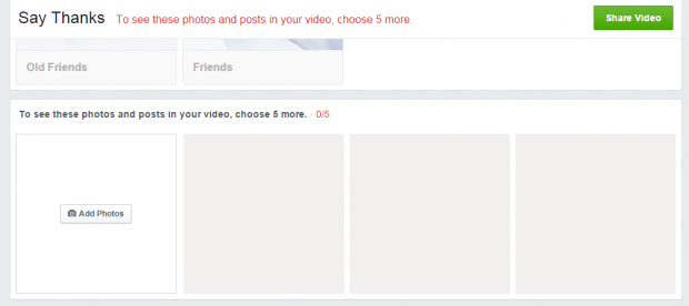 Send a Thank You video to a friend in Facebook c