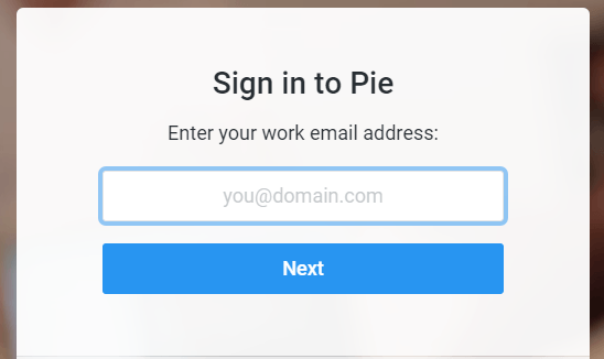 chat with colleagues with Pie