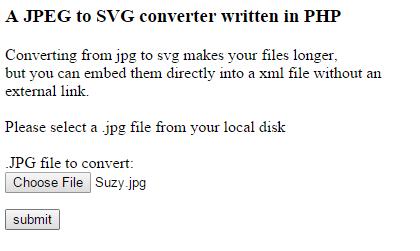 convert JPG to SVG