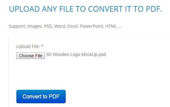 convert PSD file to PDF online