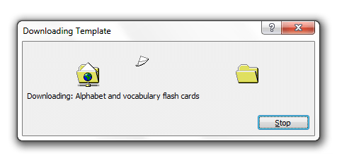 microsoft word flash cards