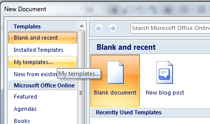 create flash cards in MS Word d