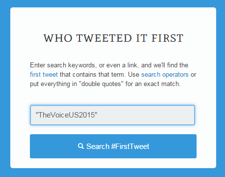 find first tweets in Twitter