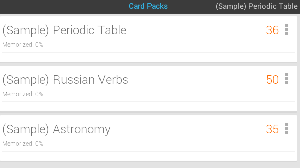 sample flash cards android