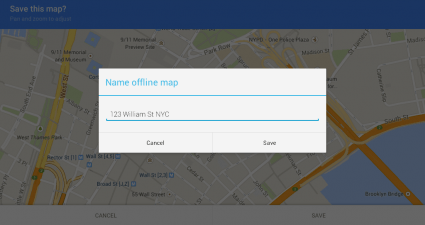 save offline map Android c