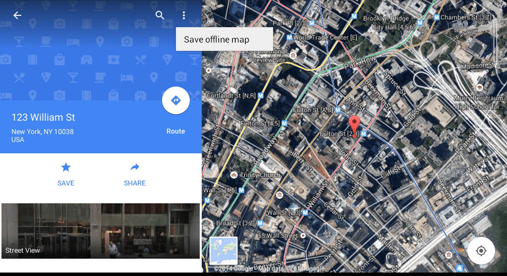 How to save google map locations for offline use in android tip save offline map android gumiabroncs Gallery
