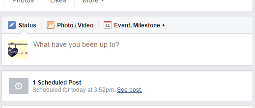 schedule posts on a Facebook Page c